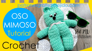 Oso Mimoso para Tejer a Crochet / Tutorial Fácil en Texto, Fotos y Video