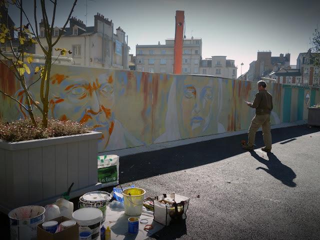 La nouvelle fresque murale en cours de réalisation - 20 octobre 2015