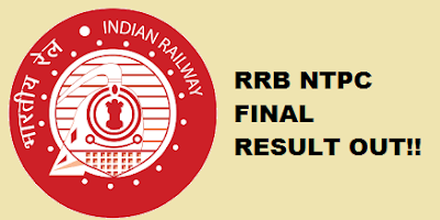 RRB NTPC Final Result Out