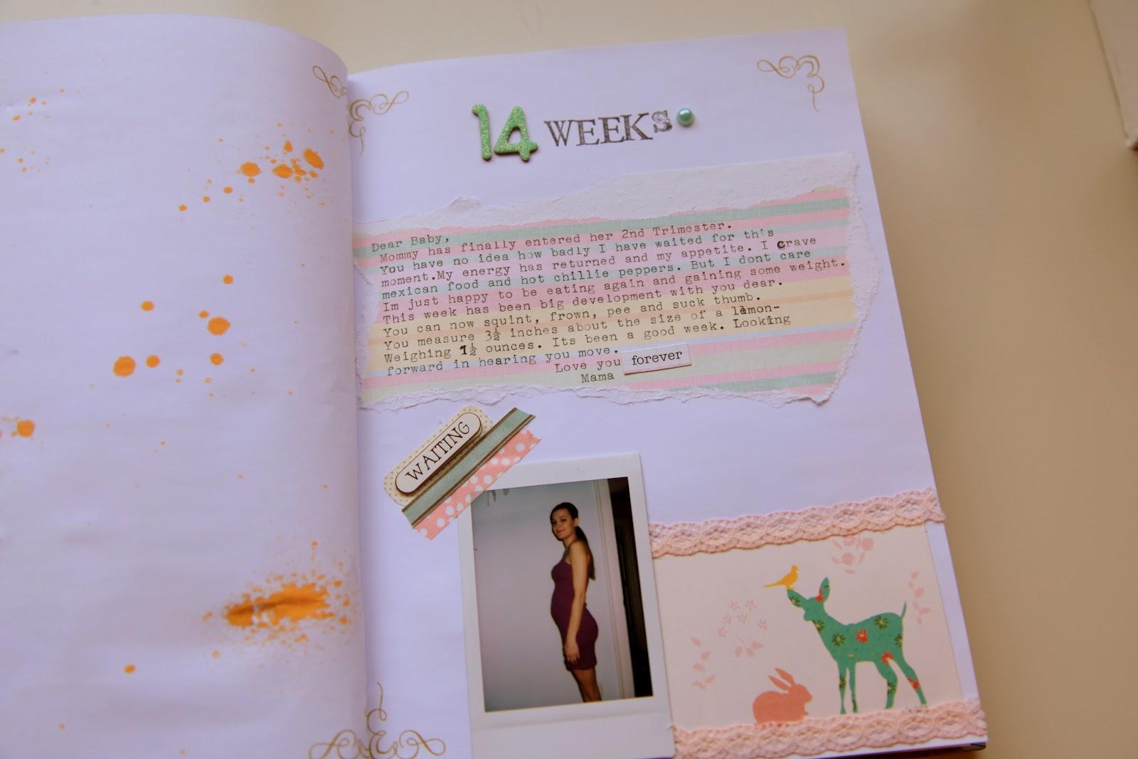 Vintage Pretty Pregnancy Journal