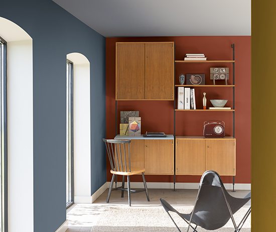 home office, acasaehsua, a casa eh sua, cores 2017, parede colorida