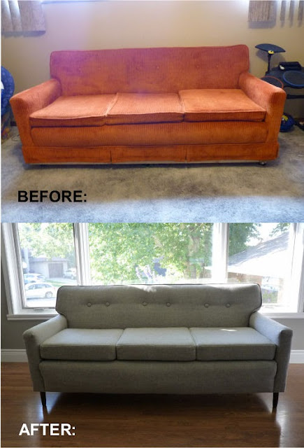 D I Y D E S I G N How To Re Upholster A Sofa