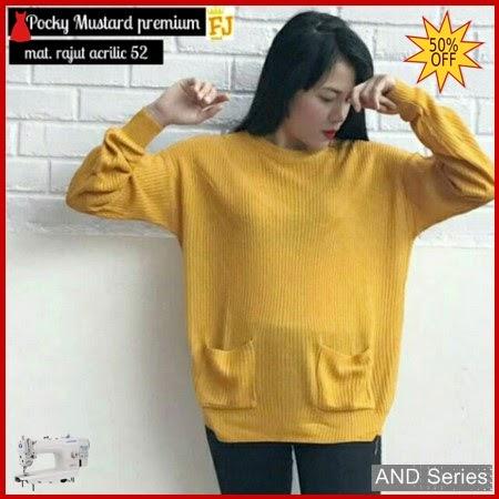 AND140 Sweater Wanita Pocky Mustard Murah BMGShop