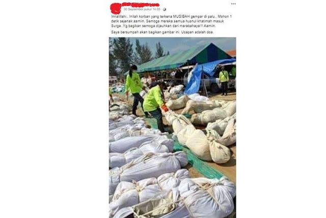 Beredar Foto Diduga Korban Gempa di Palu, Kominfo Sebut Hoaks