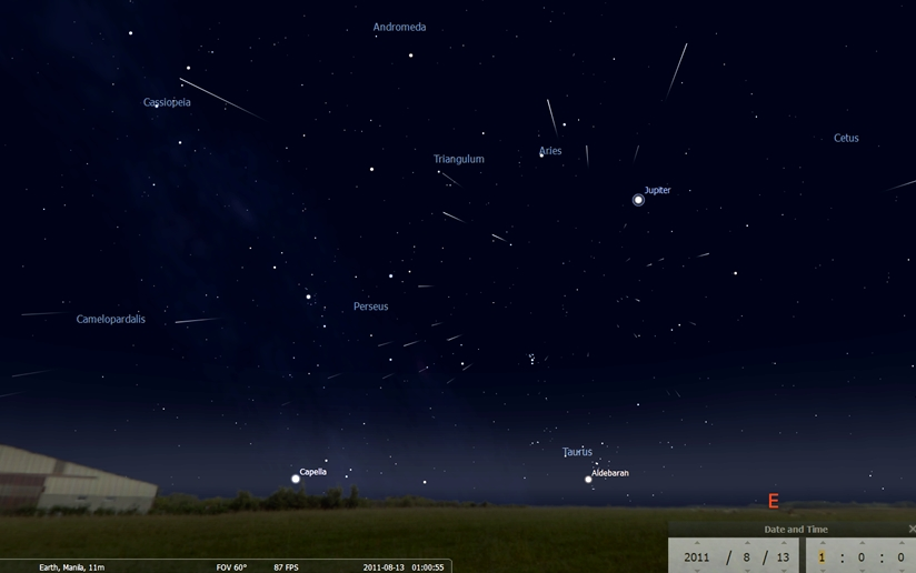 PAGASA: Meteor shower visible in PHL on August 13