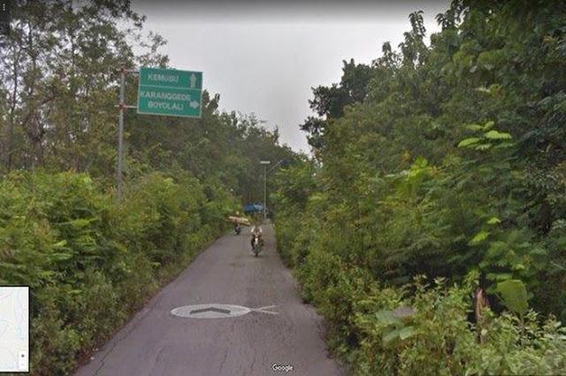 Disebut Tak Beraspal oleh Saksi Kubu 02, Ternyata Jalan Teras-Juwangi Boyolali Terlihat Beraspal Jika Dilihat dari Google Map