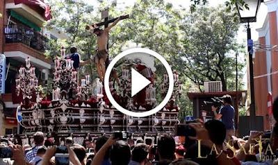 Misterio del Cerro del Águila en su salida en Sevilla 2017 el Martes Santo en Semana Santa