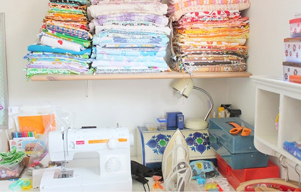 Fabric Storage in a craft room