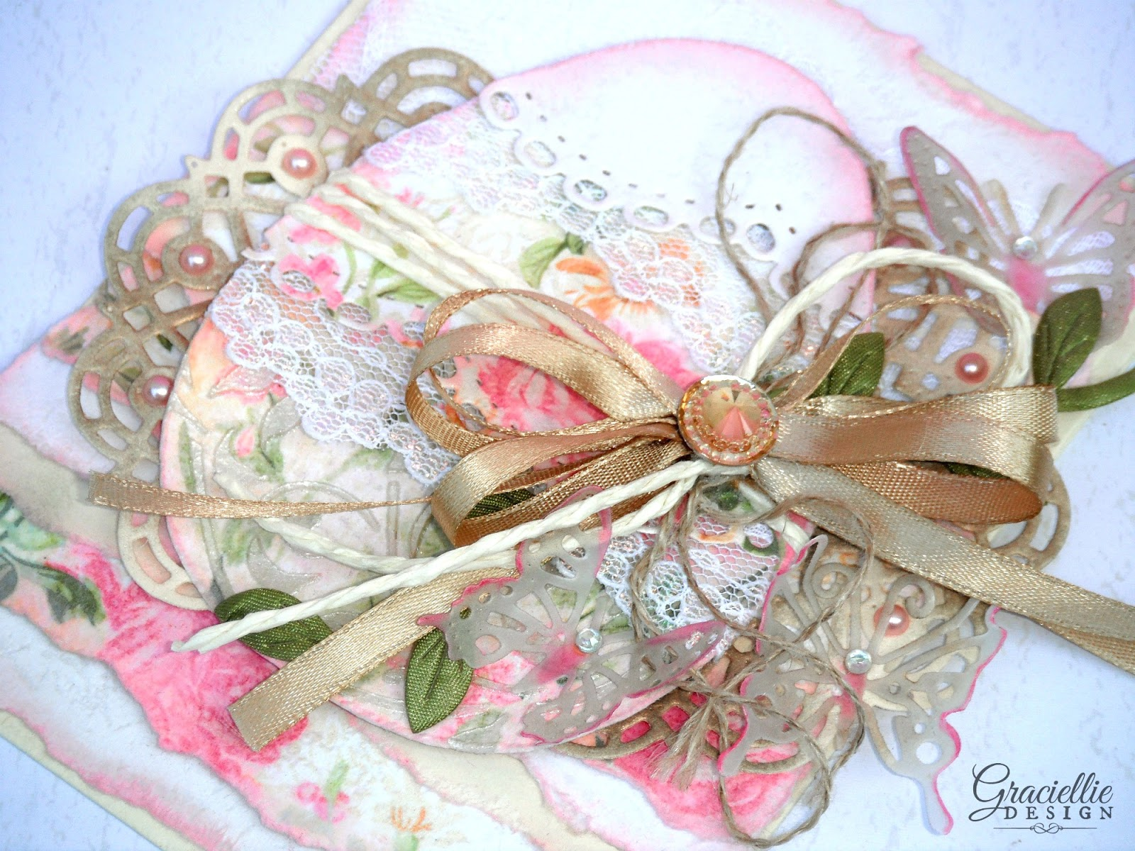 Easy Shabby Chic Easter Card br small Using an line Printable