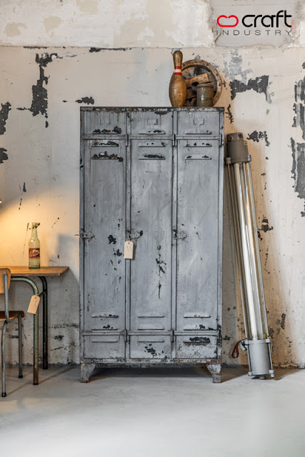 Gray vintage lockers