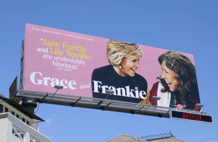 Grace and Frankie season 5 Emmy consideration billboard