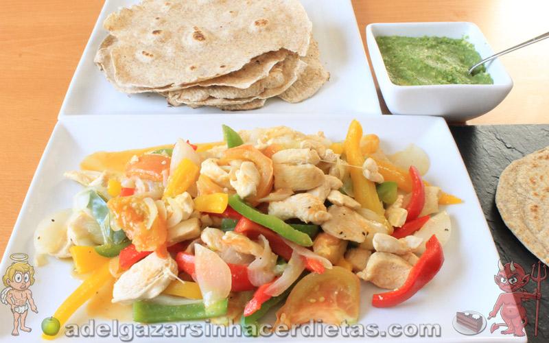 Fajitas de pollo - Comidas sanas y bajas en calorias ...
