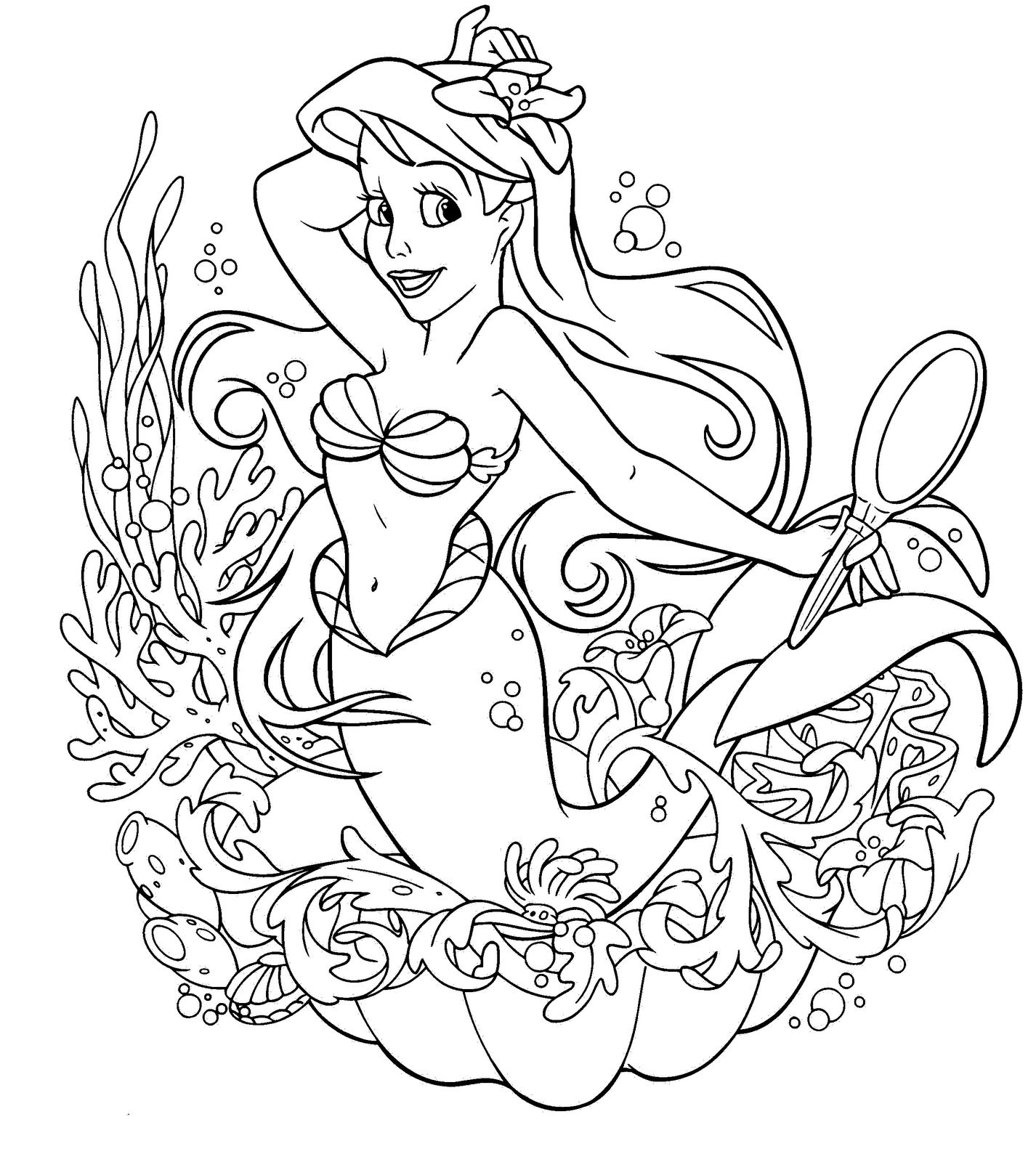 Disney Little Mermaid Coloring Page