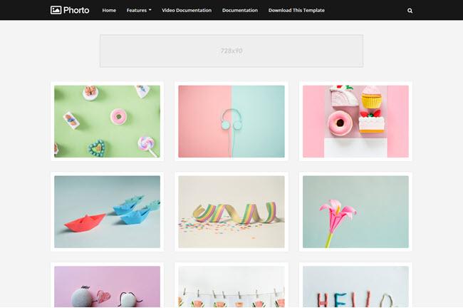 Phorto Blogger Template Premium Free Download