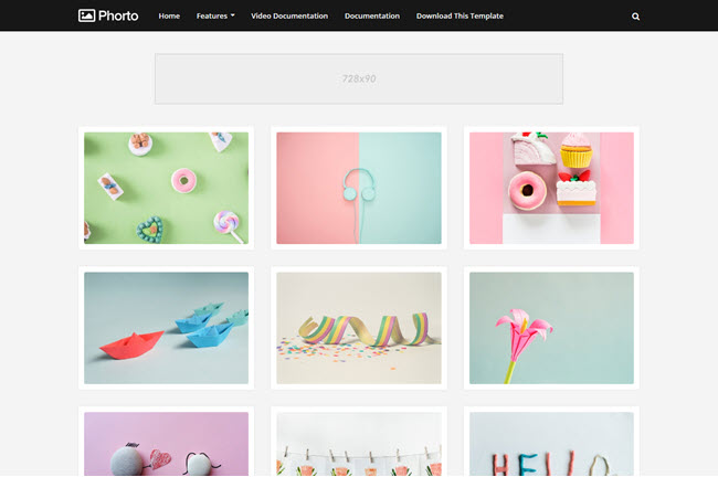 Phorto - Responsive Gallery Blogger Template