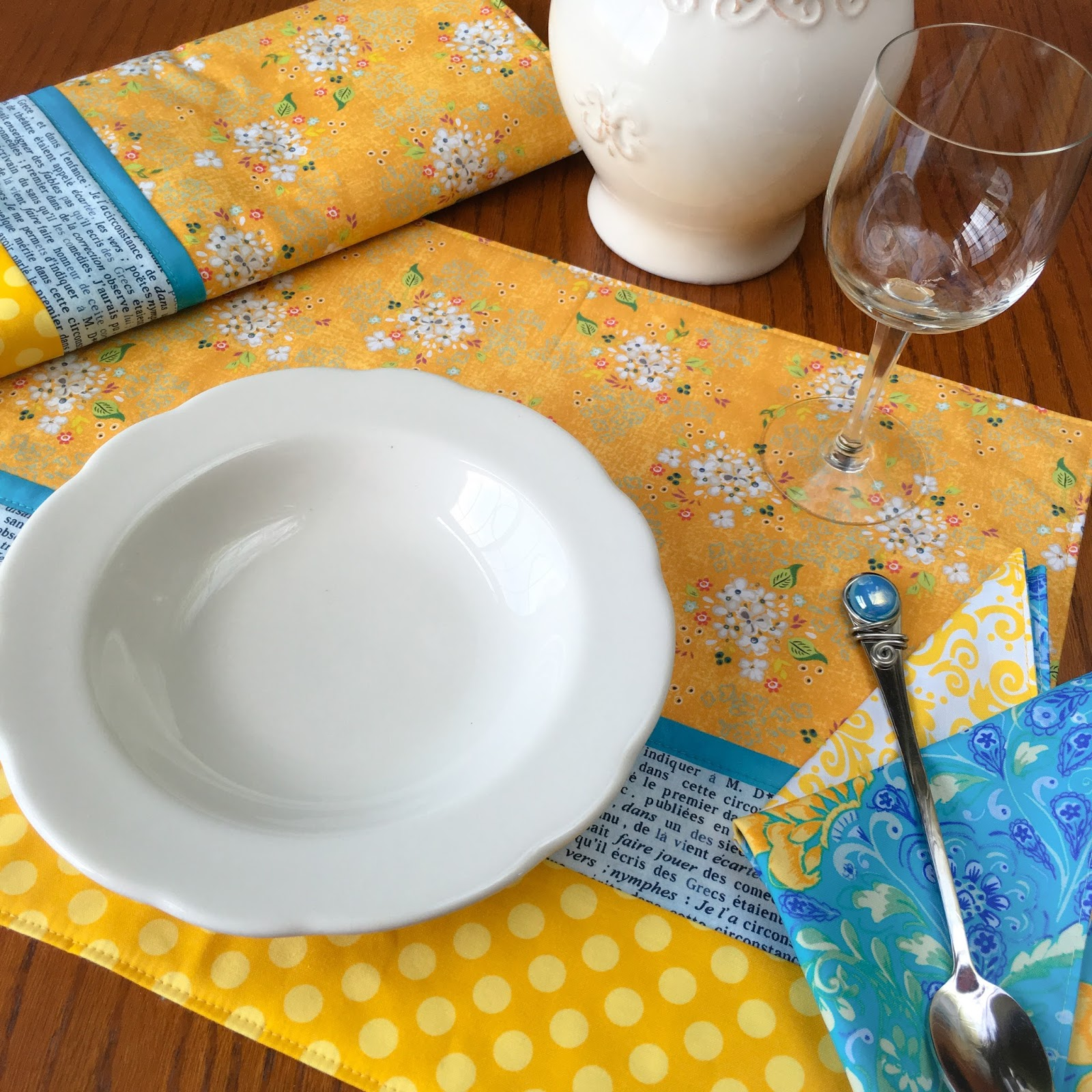 Carried Away Quilting Easy Placemat Napkin Tutorial