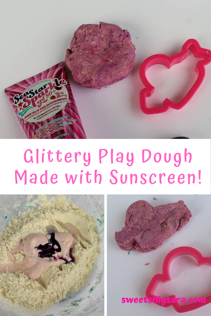 homemade scented glitter play doh
