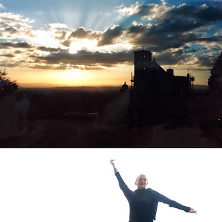 Kate Branch in Assisi, Italy