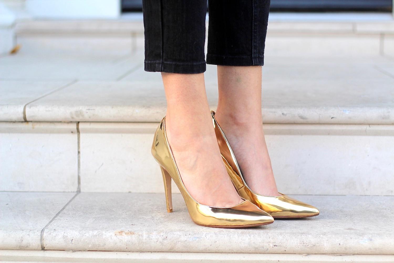 gold heels dune peexo