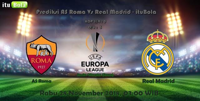 Prediksi AS Roma Vs Real Madrid - ituBola