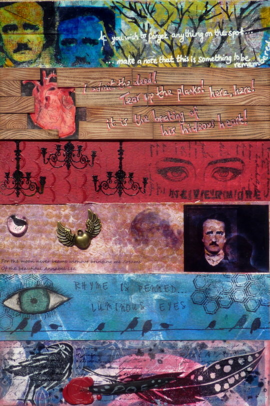 Whoopidooings: Carmen Wing - Mixed Media Edgar Allen Poe Collaboration