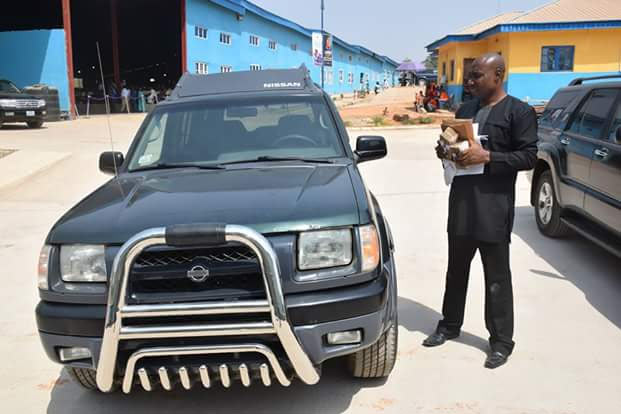 Apostle Suleman gives church member 500k and Nissan SUV