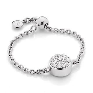 Monica Vinader - Fiji Mini Button Adjustable Friendship Diamond Ring - £125.00