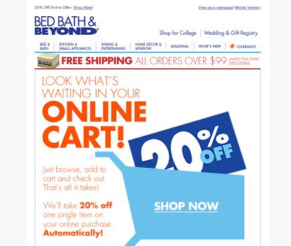 bedbathandbeyond online coupon 2