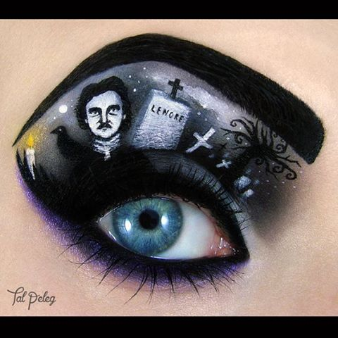 16-Edgar-Allan-Poe-Annabel-Lee-Tal-Peleg-Body-Painting-and-Eye-Make-Up-Art-www-designstack-co