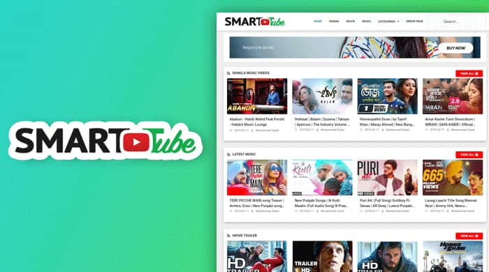 Smart Tube -Video Blogger Template