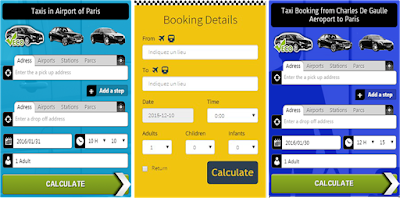 Different Paris Taxi Service Booking Apps