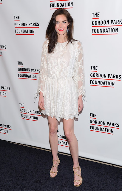 Fashion Model, @ Hilary Rhoda - 2016 Gordon Parks Foundation Awards Dinner at Cipriani in New York