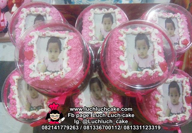 Mini Cake Souvenir Ulang Tahun Dengan Foto Edible