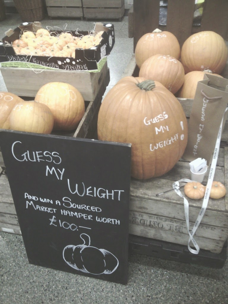 I guessed the big pumpkin weighed 18 Ib, 11oz, but on reflection I think that may be a little light