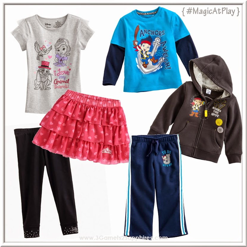 Kohl's Disney Jumping Beans #MagicAtPlay Sofia and Jake Back-to-School Fashions  |  www.3Garnets2Sapphires.com