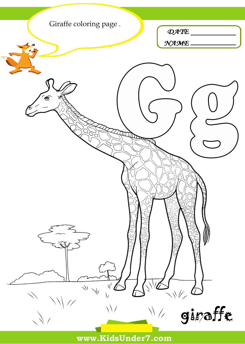 Workbooks letter g worksheets for preschool : Kids Under 7: Letter G Worksheets and Coloring Pages