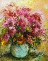 original oil painting on canvas Morning, Tenderness, Peonies