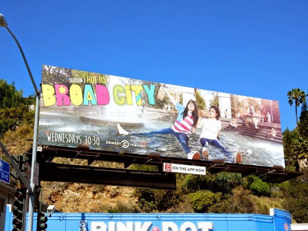 Broad City season 2 billboard