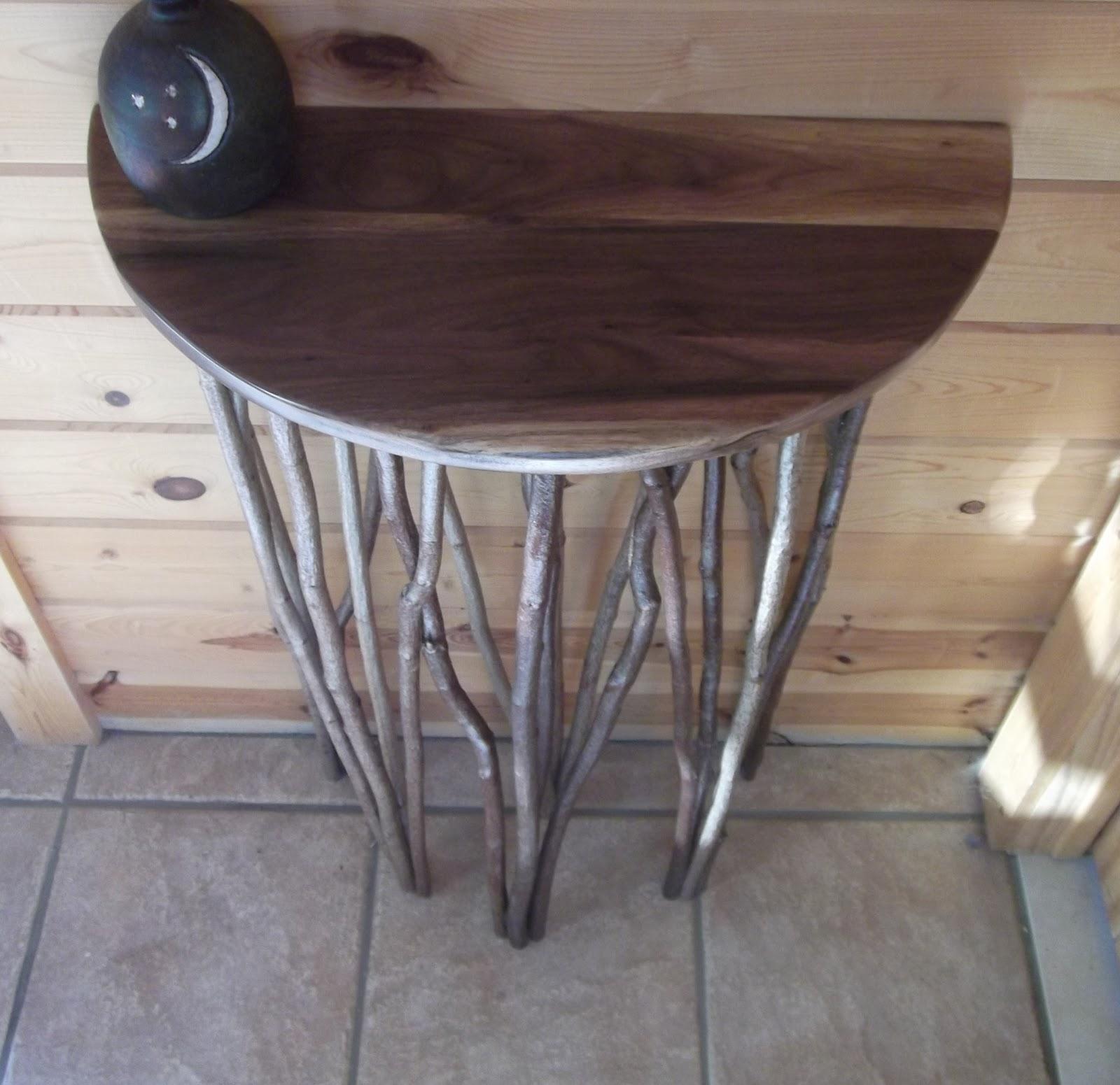 Half Wall Table: Crow Wing Country Furniture : Wall Art & Black Walnut Half