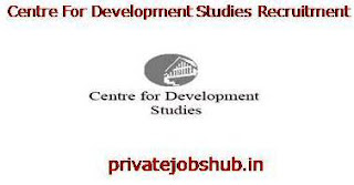 Centre For Development Studies Recruitment