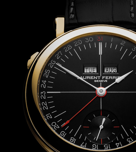 Laurent Ferrier Galet Annual Calendar School Piece Opaline Black