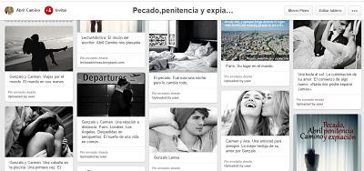 """Tablero en Pinterest de mi novela romántica """"Pecado, penitencia y expiación"""""""