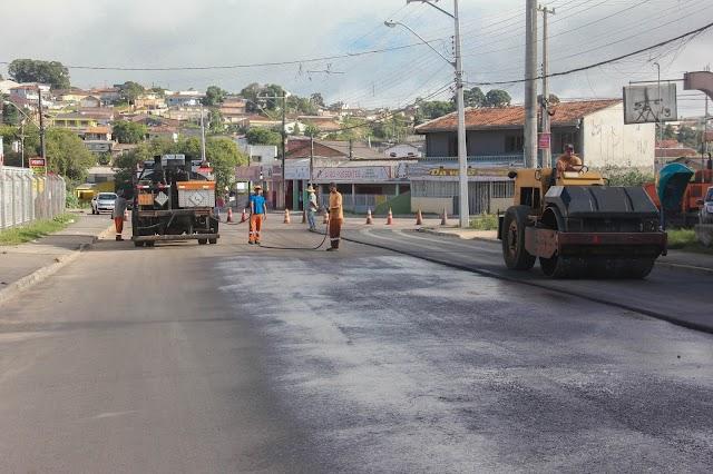 Obras na Rua Cerro Azul chegam à fase final