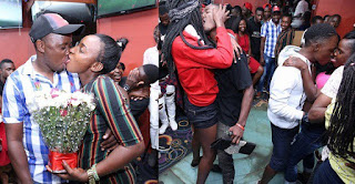Fashion and style :::   KISS OR FIGHT?? Photos from a kissing competition in Kampala, Uganda