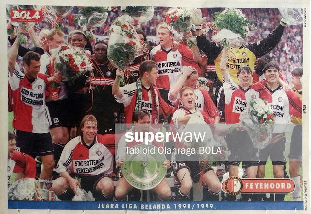 Poster Tim Feyenoord Juara Liga Belanda 1998