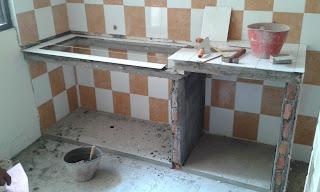 contoh top table kitchen menggunakan keramik