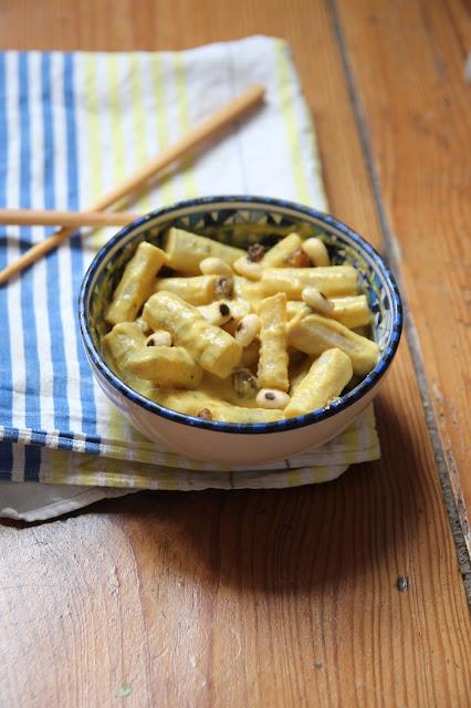 Salade de salsifis au curry, raisins secs et amandes - 2