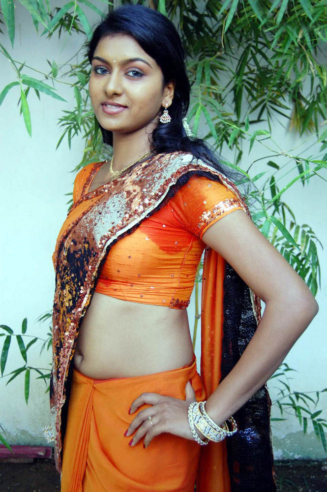Actress Akshida Saree Below Navel Show Photos  Actress -9583