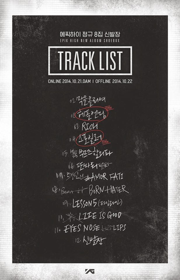 EPIK HIGH release tracklist for 'Shoebox' | Daily K Pop News