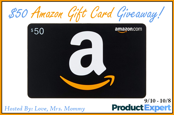 $50 Amazon Gift Card Giveaway! Ends 9/8 OPEN WORLDWIDE